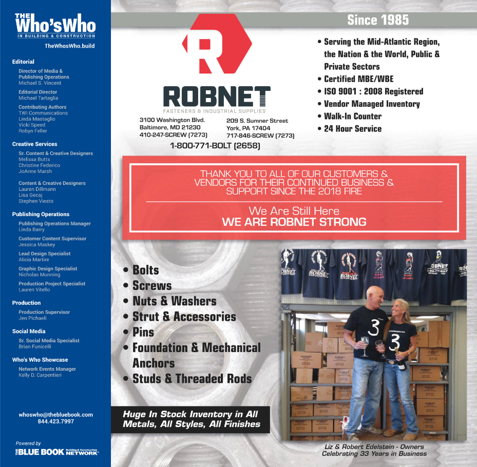 Robnet Fastners Who's Who Cover